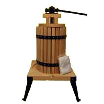 Quality 6L OAK Fruit Wine Apple Cider Press UK STOCK FREE PULP BAG by CDGF