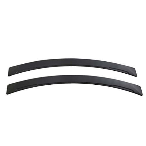 Homyl 1 Pair Car Fender Flares Arch Wheel Eyebrow Mudguards Stickers – Black