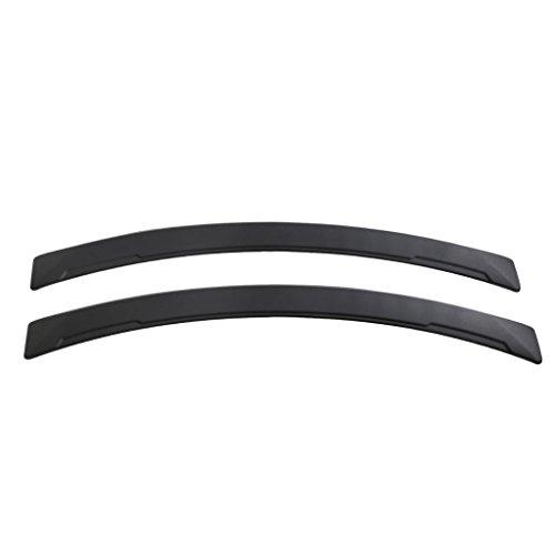 Homyl 1 Pair Car Fender Flares Arch Wheel Eyebrow Mudguards Stickers – Black