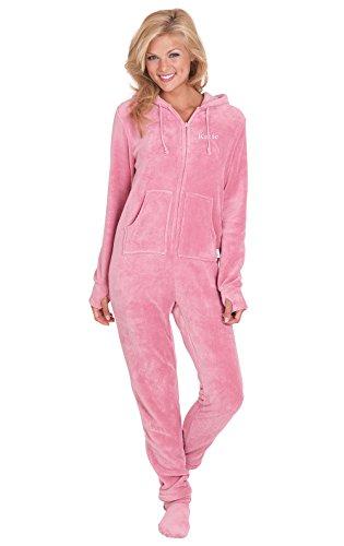 Pajamagram Women's Hoodie-footie Fleece Onesie Pajamas