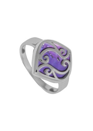 Boma Jewelry Sterling Silver Purple Turquoise Filigree Ring, Size 9