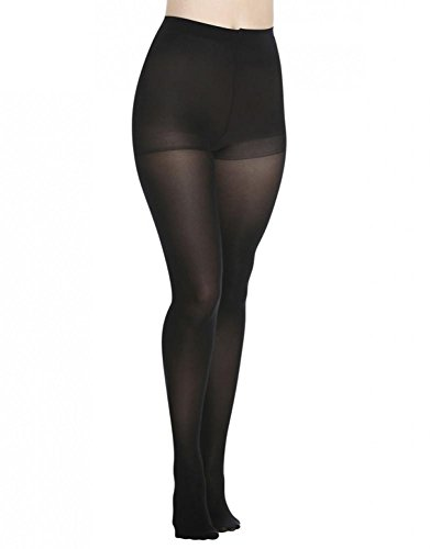 DKNY Opaque Control Top Tights 2-Pack, Medium, Black / Black (Petite Tights)