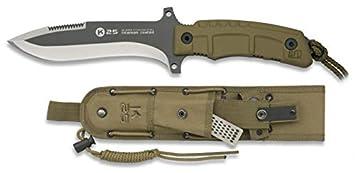 Cuchillo K25 Coyote Titanio Hoja 14,9 para Caza, Pesca ...