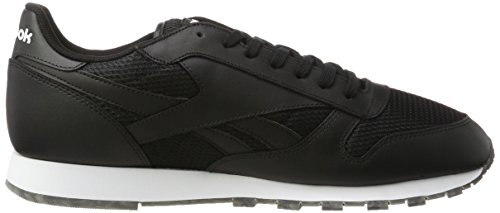 Reebok Classic Leather Black Coal White Erwachsene Unisex Schwarz Sneakers gum ZrvBZwPq