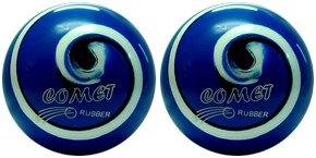 EPCO-Duckpin-Bowling-Ball-2-Comet-Pro-Rubber-Royal-Black-White-Balls