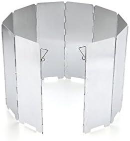 JAMSWALL Parabrisas Aluminio Plegable aleación de Aluminio con 10 Piezas para Comping Stove Protector: Amazon.es: Deportes y aire libre