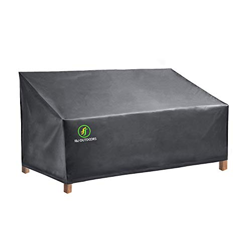 Outdoor Loveseat Cover, Durable Weather Waterproof UV Resistant Patio Furniture Sofa Cover Bench Covers, Grey, Medium ()