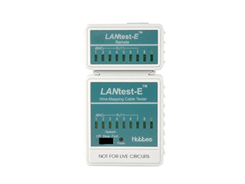 Hobbes E-551 LANtest-E Wire-Mapping Cable Tester for BNC/RJ45/RJ11 by Hobbes