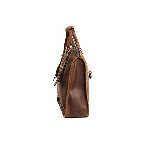 Paonies Damen Herren Büffelleder Tasche Handtasche Umhängetasche Schultertasche für Arbeit Freizeit