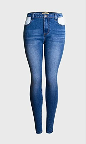 Amazon.com: Blue Stones Elastic Spliced high Waist Jeans ...