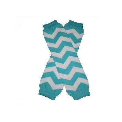 Chevron Baby Leg Warmers (Turquoise Blue)