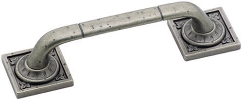 Amerock BP4482WN Ambrosia Euro Stone Square Pull, Weathered Nickel, 3-3/4-Inch by Amerock