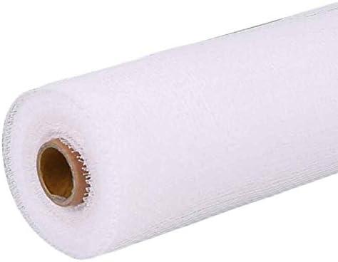 花包装紙メッシュハードガーゼブーケ包装材料DIYクラフト包装用品、ホワイト