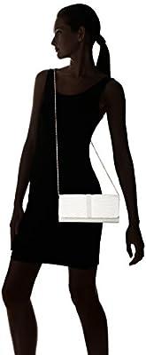 Jubileens Women's Pleated Satin Clutch Rhinestine Crystal Evening Handbag Purse