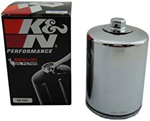 K/&N /Ölfilter verchromt KN-170C f/ür Harley Davidson
