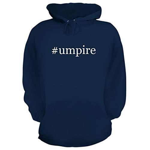 BH Cool Designs #Umpire - Graphic Hoodie Sweatshirt, Navy, Medium