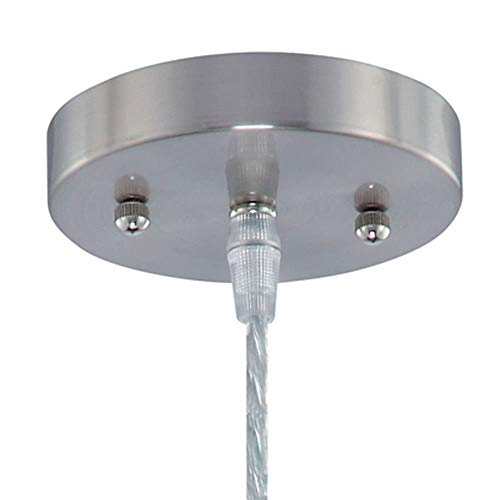 Lite Source Inc Lite Source LS-19598 ICY Pendant Lamp with Clear Acrylic Shade, Polished Steel,