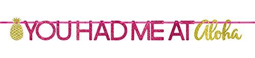 Amscam 120345 Aloha Glitter Ribbon Letter Banner, 12' x 6 1/2