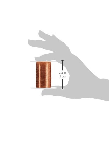 0.0022 Diameter Natural 2 oz Enameled Copper Wire Wound 9975 Length Remington Industries 44SNSP.125 Magnet Wire 44 AWG