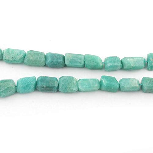 GemAbyss Beads Gemstone 1 Strand Natural Amazonite Faceted Center Drill Briolettes - Nugget Beads 10mmx7mm-15mmx10mm 16 inches Code-MVG-13067 ()