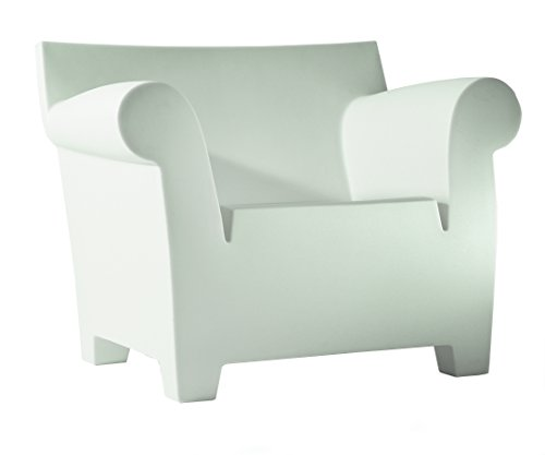 Kartell Bubble Club Armchair by Philippe Starck, Pack of 1, Matte Zinc White