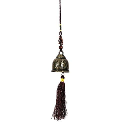 Ratnatraya Feng Shui Tibetan Temple Bell Mystic Knot Car/Wall Hanging For Good Luck | Hanging Door Bell For Spiritual Protection Decor Doorbell
