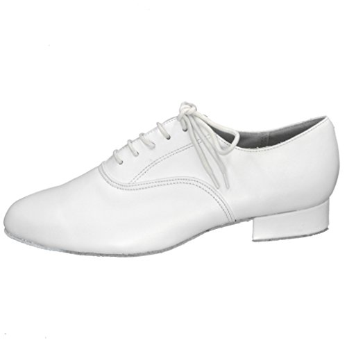 Jig Foo Herren Standard Tanzschuhe, Weiß - Weiß - Größe: 46