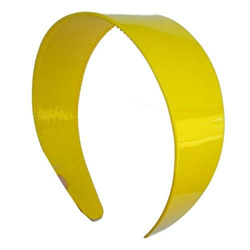 "Yellow chain link plastic 1 1//8/"" wide headband hair band accessory"