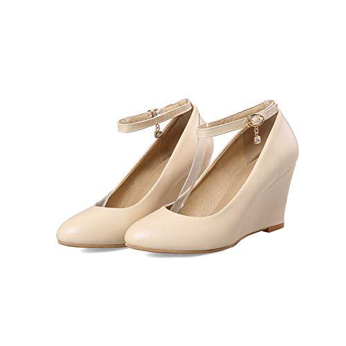 36 Sandales Compensées 5 APL10687 Jaune Abricot Femme BalaMasa SAwvqZUW