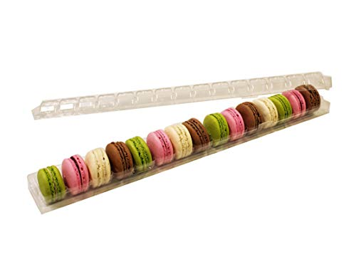Clear Macaron Cookie Storage and Display Tray - Holds 15 Macarons - Made in France - Pack of 30 ()