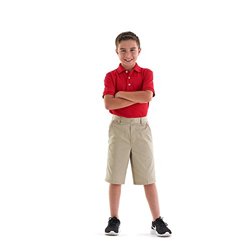 School Uniform Unisex Short Sleeve Pique Knit Shirt By French Toast, Red 31967-10Husky by French Toast (Image #4)