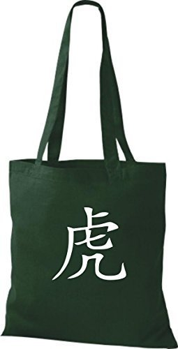 Shirtinstyle - Cotton Fabric Bag For Women - Green Bottle