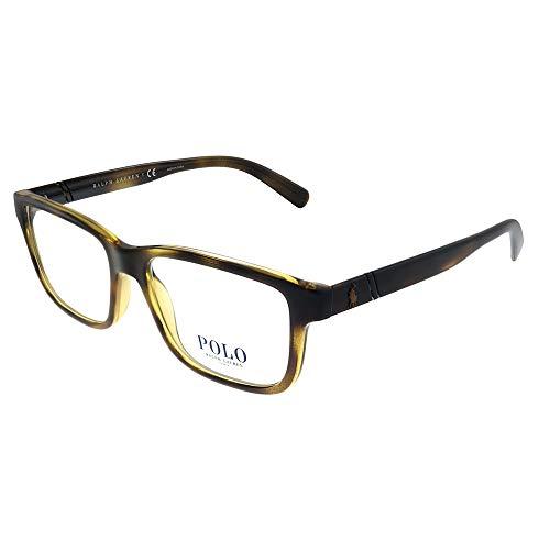 Polo Men's PH2176 Eyeglasses Shiny Dark Havana 52mm (Polo Ralph Lauren Brown Frame)