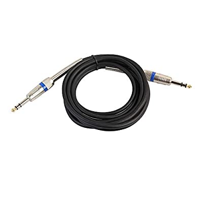 Alimao 6.35mm Male to Male Audio Cable for Electric Guitar Mixer Mono/Stereo Via Cable