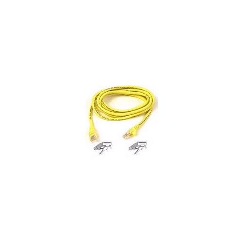 BELKIN 25ft cat5e yellow crossover cable molded gray boot A3X126-25-YLW-M