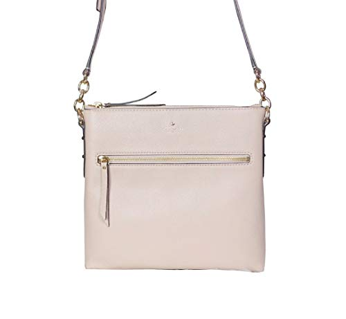 Kate Spade New York Shellie Larchmont Avenue Pebbled Leather Crossbody Bag Warmbeige ()