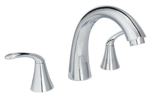 Huntington Brass 14730-01 8-Inch - 16-Inch Builders 2-Handle Deck-Mount Roman Tub Faucet, Chrome - 2 Valve Deck Mount Tub