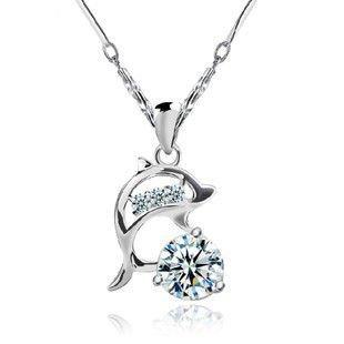 Hermosa S925 Dolphin Pendant Necklace 3TDz0