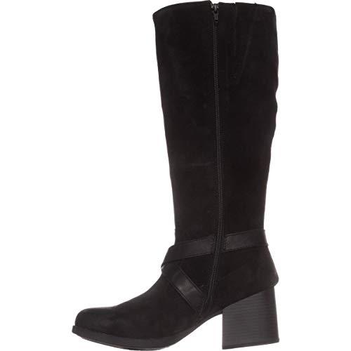 - Born Womens Dakota Leather Closed Toe Knee High Fashion Boots, Black, Size 10.0