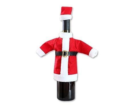 DSstyles de Navidad traje de Papá Noel para botella de vino ...