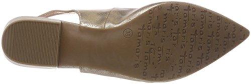 Tamaris Damen 29402 Slingback Sandalen Pink (Rose Metallic)