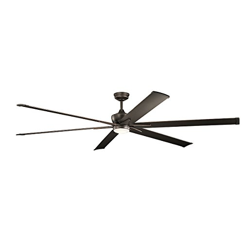Kichler 300302OZ LED Ceiling Fan with Lights, 96-inch, Olde