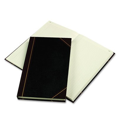 Texhide Series Account Book, Black/Burgundy, 300 Green Pages, 14 1/4 x 8 3/4, Sold as 1 Each