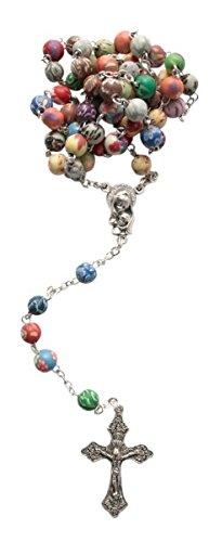 Chapelet Perles Multicolores * marbré * Geschenke Direkt