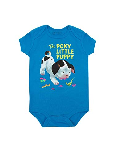 Out of Print Little Golden Books The Poky Little Puppy Unisex Baby Bodysuit 6 Months (Infant Puppy)