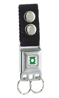 Lantern Keychain - Green Lantern Seatbelt Keychain w/Snap-On Belt Loop