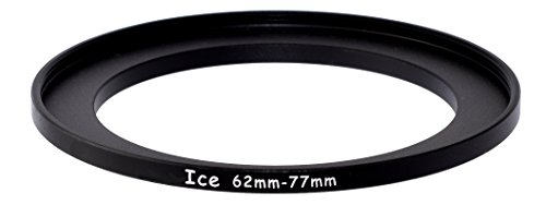 ICE 62mm to 77mm Step Up Ring Filter / Lens Adapter 62 male 77 female Steppi (B W Step Up Ring)