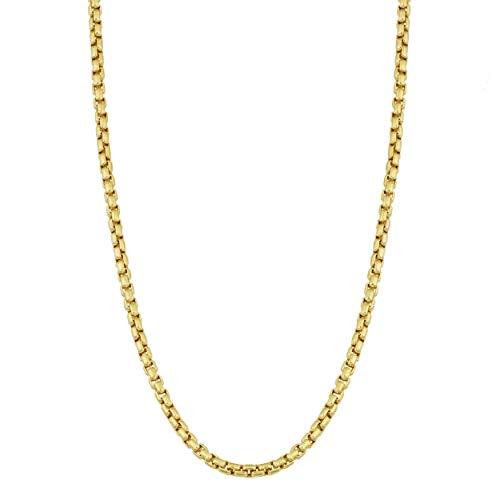 (Verona Jewelers 10K Yellow Gold 2MM Round Box Chain Necklace, 10K Box Necklace, 10K Gold Necklace, 10K Gold Pendant Necklace 18-30 (26, 2MM) )