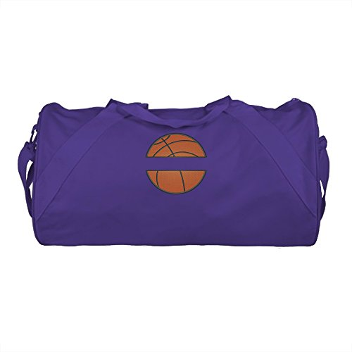 QUALITY Durable Name on a Basketball Name Design Duffel Bag Personalized Embroidered (Purple) For Sale