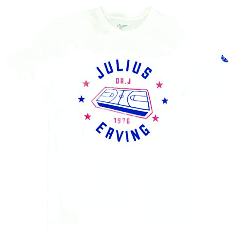 17034655d Mens Julius Erving Game Board Cotton Crew Neck T-Shirt White
